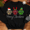 Paw Dogs Santa Reindeer And Elf Merry Christmas Shirt